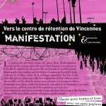Manifestation centre de retention de vincennes