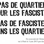 affiche Clément Méric / quartier